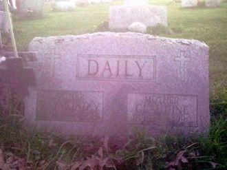 Headstone of Raymond V. and Claudine Daily