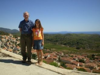 Frano Korunic with daughter