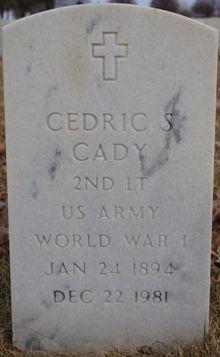 Cedric S. Cady Gravesite