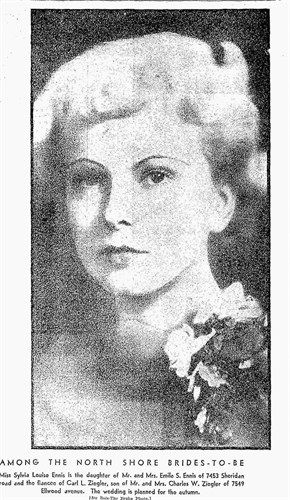 A photo of Sylvia Louise (Ennis) Ziegler