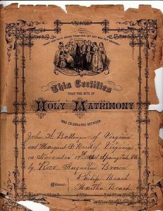 Ballenger Marriage Certificate