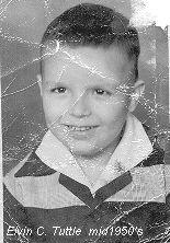 Elvin Tuttle in a school photo