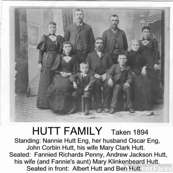 Andrew & Mary Hutt Family, NE 1894
