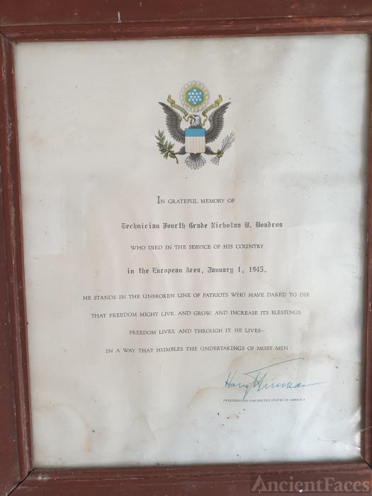 Nicholas W Boudros Certificate