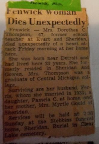 Dorthea C (Lozar) Thompson Obituary