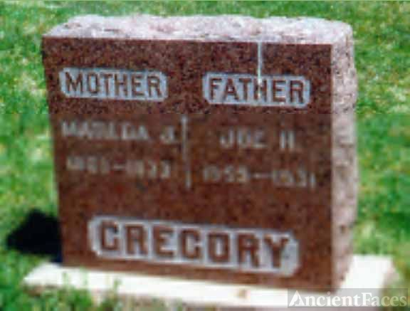 Joe & Matilda Gregory's Tombstone