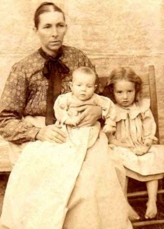 Mary Eliza ELLINGTON Smedley And 2 Of Her Babies