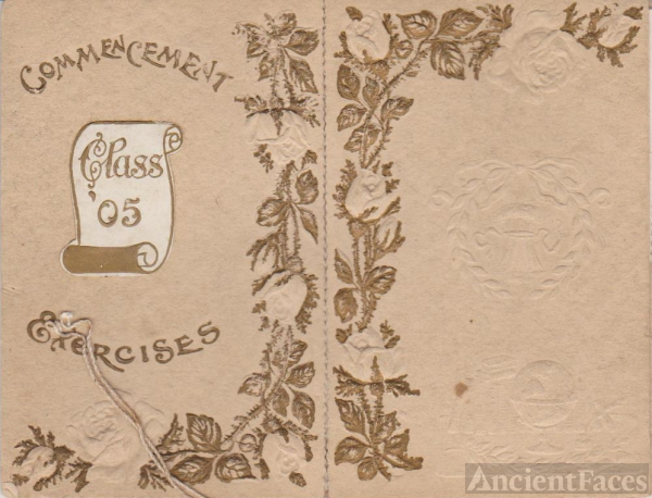 1905 Commencement Exercises Cover