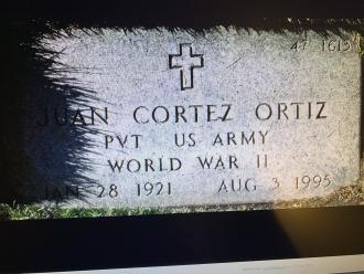 Juan Cortez Ortiz Gravesite