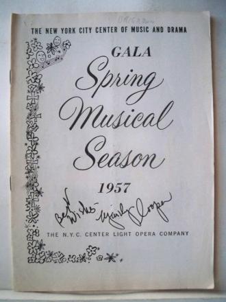 1957 SPRING MUSICAL SEASON.
