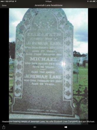 Jeremiah Lane gravesite