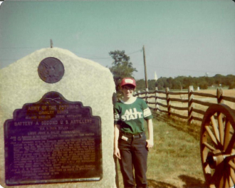 Dee Young at Gettysburg