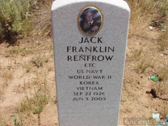 His grave in Idaho.