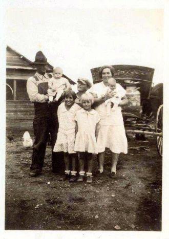 Jesse and Ada (Belcher) Adams family