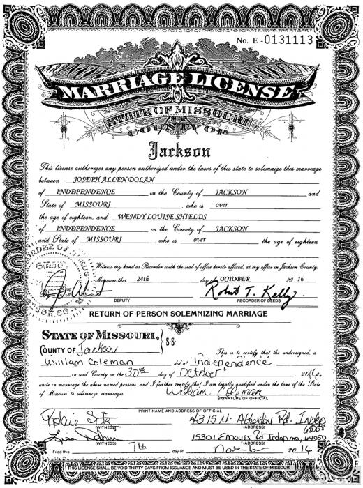 county jackson license marriage missouri