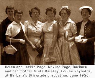 Barbara (Baisley) Holtz family, California 1956