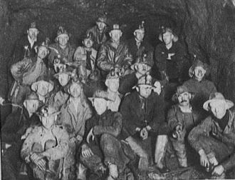 Group of miners underground