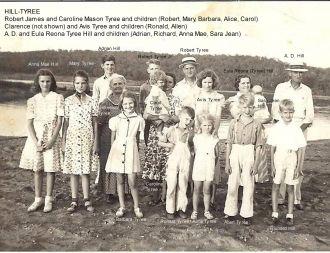 A.D. & Eula Hill family