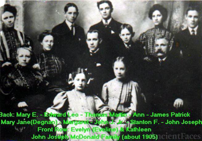 John Joseph McDonald Family