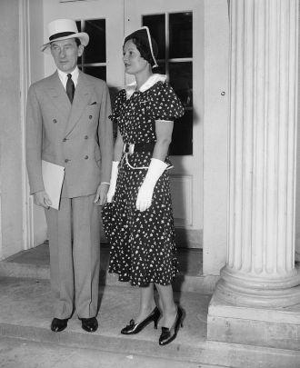 Jimmy Walker & Betty Compton, his wife