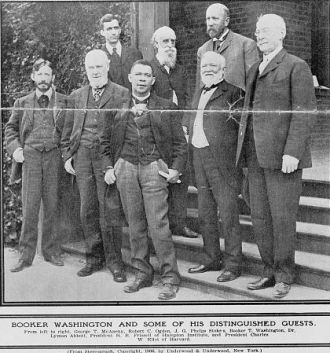 Booker T. Washington & guests