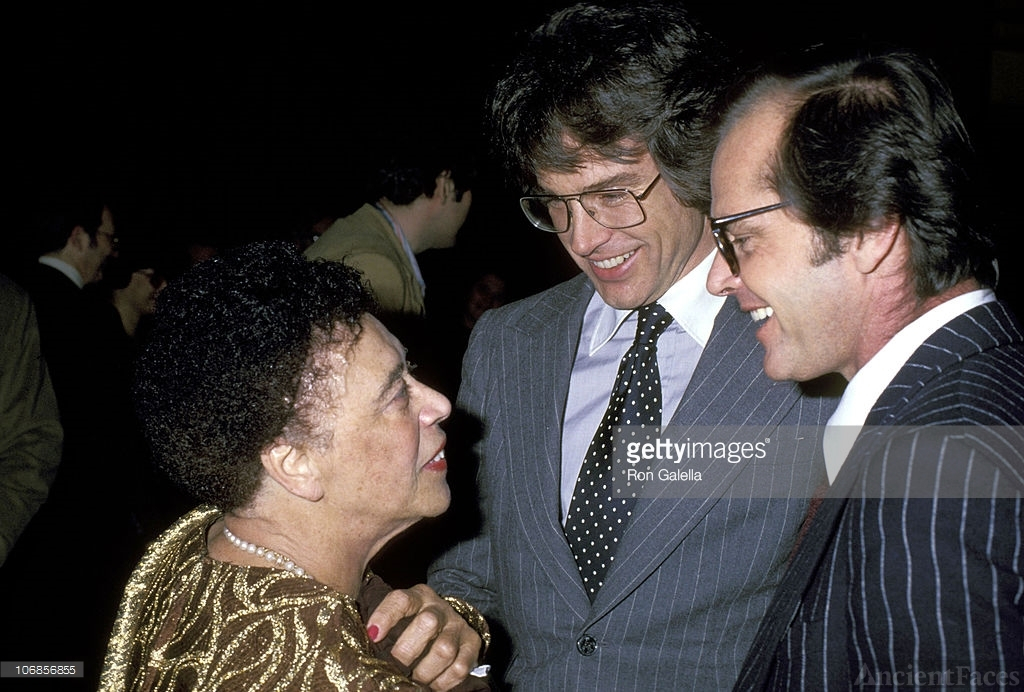 Mabel Mercer, Warren Beatty, and Jack Nicholson