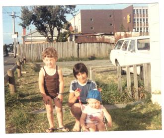 """Kenny Kalajdic """" Nephew Travis & Niece Rochelle """" Footscray 80's"""