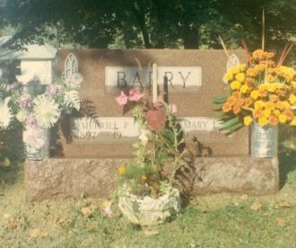 Merrill Paul Barry & Mary Lovicy Sparks gravestone