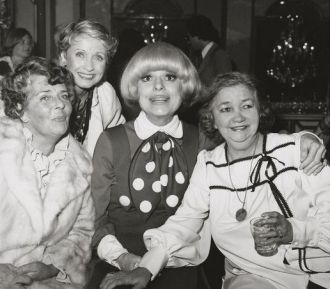 Ruby Keeler, Jane Powell, Carol Channing, and Patsy Kelly