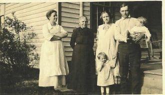 Pearl, Priscilla, Lois, Cecil, & Children