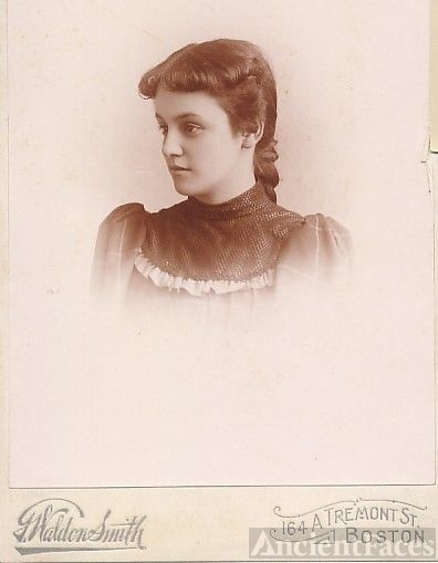 Florence Wallace, young teen, Boston