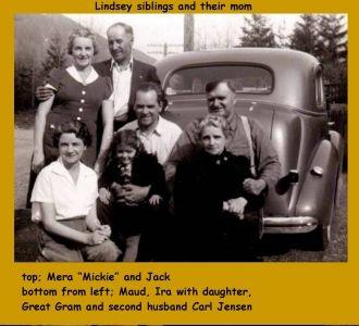 Bobbie, Jack, Mera, Maud & Ira Lindsey, Washington