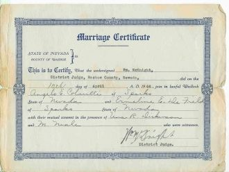 Angelo & Ermeline Colautti Marriage