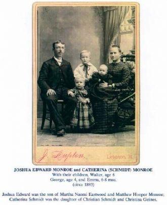 Joshua & Catherina Monroe Family, 1891