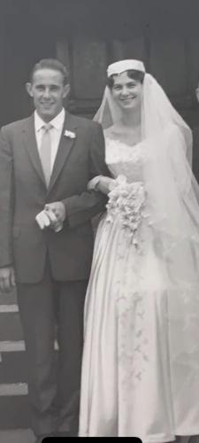 Shirley (Mackey) Adams wedding day