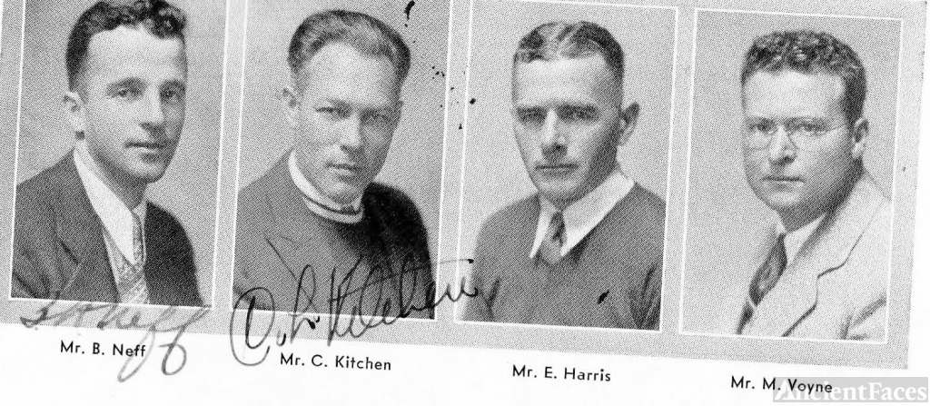 Claude Kitchen and 1933 Coaching Staff