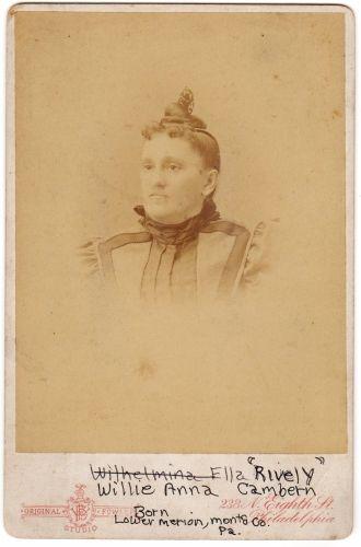 A photo of Wilhelmina Ella (Rively) Cambern