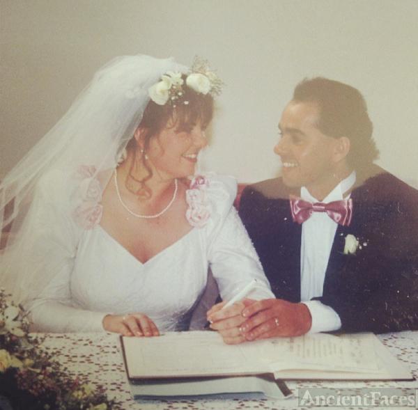 wedding of Roslyn to John Woods