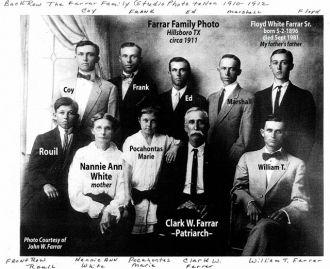 Clark Wallace Farrar Family Photo