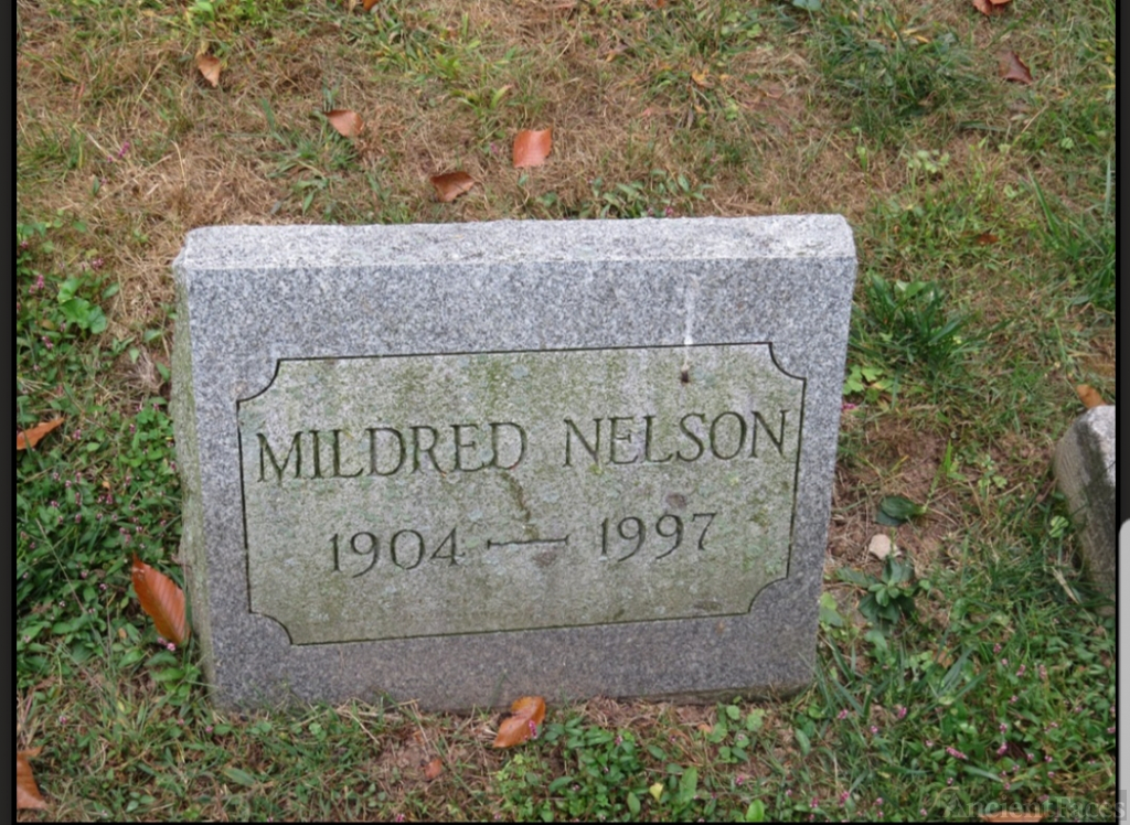 Mildred (Dufford) Nelson Simmons Burial