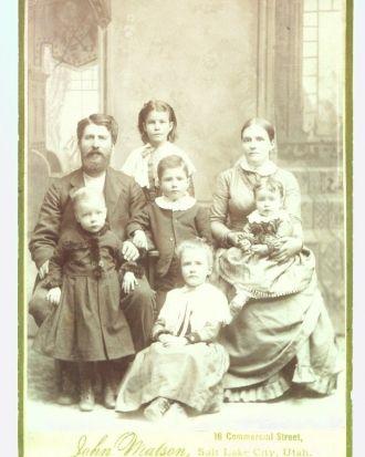 Moses Perry Rockwood Family, Utah