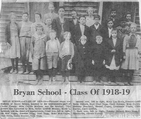 Bryan School 1918-19