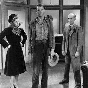 Barbara Stanwyck, Gary Cooper and James Gleason.