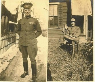 Two Pictures of Lieutenant H. Bridwell