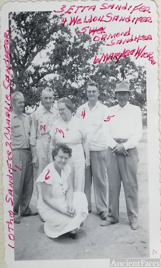 Charles Otho and Etta SANDIFER Family