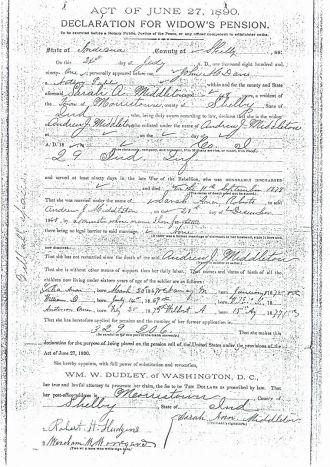 Andrew Jackson Middleton -Civil War Record 4