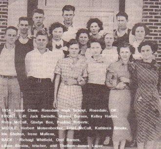 1934 Jr. Class, Rosedale, OK