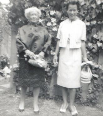 Lois Benning Ewen and Mildred Wilson Benning