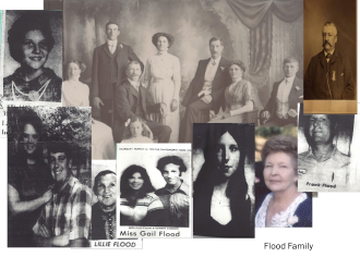 Gail, Lillie, Frank Flood and Family members