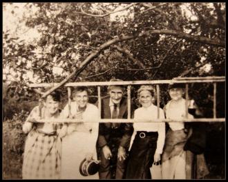 1930 Framed by a Ladder